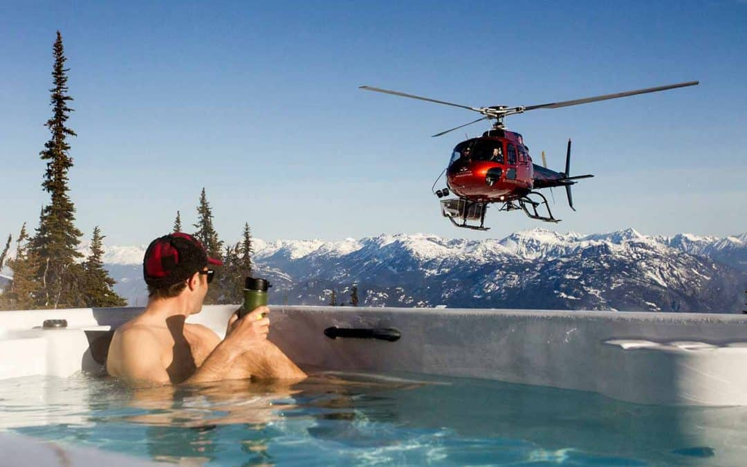arcticspas hottub helicopter delivery