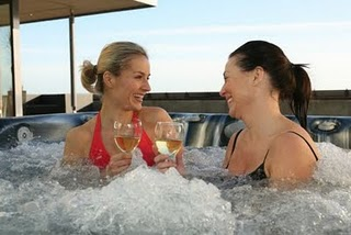 Relax in a Hot Tub with your Girlfriends