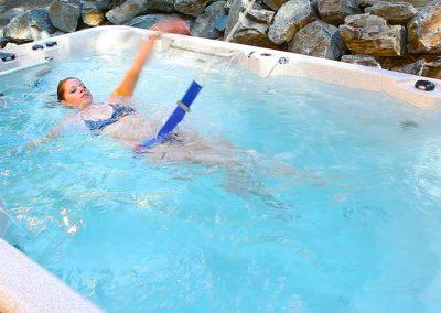 swim spa athabascan girl swimming